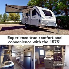 The Lance 1575 Travel Trailer is the perfect way to experience comfort and convenience while on the road! Lance Campers, Truck Camper, Travel Trailers, Recreational Vehicles, Rv, Trucks, Camping, Adventure, Style