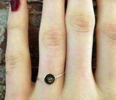 Brass Initial Ring