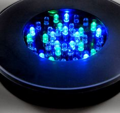 "Black Light Bases Vase Lighting 6"" Black LED Vase Light Battery Operated 40 RGBW $16"