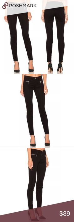"""New J BRAND MIRANDA Skinny Zip Jeans 14937 J BRAND MIRANDA Skinny Zip Jeans Black Soft Sateen  Front zip pockets put a rocker-girl twist on streamlined jeans in a skinny silhouette that flatters from every angle. Zippered pockets bedeck this gorgeous mid-rise sateen skinny. 61% Cotton / 36% Cotton / 3% Elastane. Made in USA  MEASUREMENTS Waist: 12.5"""" flat across  Rise: 8""""  Inseam: 28""""   New with tags. Thank You and Happy Shopping J Brand Jeans Skinny"""