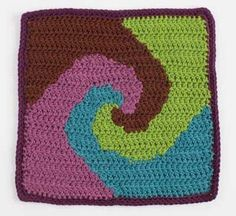 You could even continue this crochet afghan square into a gorgeous blanket. Snail's Trail - Media - Crochet Me