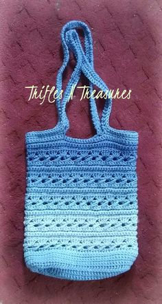 Ocean Serenity - FREE crochet bag pattern at TriflesNTreasures.