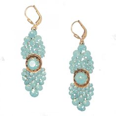 Catherine Popesco Crystal Cluster Earrings - Pacific Opal or Black Diamond - Catherine Popesco Jewelry - La Vie Parisienne - Jewelry
