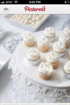 Snowflake cupcake stand