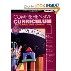 **PERFECT for 3 year olds. A must get!! Comprehensive Curriculum Plus Kindergarten Screening Guide