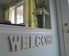 welcome sign by queen b creative me - something to do with the rental