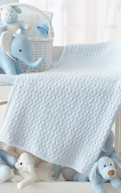 Textured Crochet Baby Blanket - Gorgeous Free Pattern from our friends at CraftFoxes