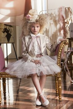 Haute couture dress- design by Alexandra Plati #communiondress #kidsfashion #designerscat Baptism Outfit, Cat Store, First Communion Dresses, Haute Couture Dresses, Shoe Collection, Designer Dresses, Harajuku, Cats, Clothes