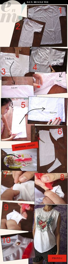 DIY muscle tee - i love the shirts and could easily find cheap clothes at thrift shops.. thinking mens department ...