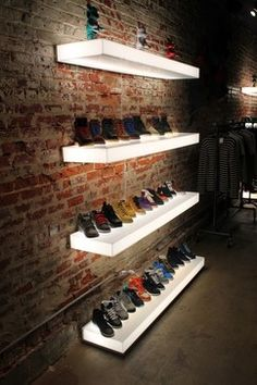 Lighted Acrylic floating shelves | Pinned by www.PeregrinePlastics.com