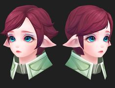 ArtStation - 3D_Elf girl face (handpainted), Joker Y