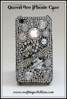 LOVE this!!!  3D Gorgeous Sparkle & Pearl Queen Bee iPhone Case  Because I am the queen bee!!!!!! :)