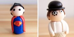 DIY Superman <3 and two face which is a batman bad guy but it's still cool :)