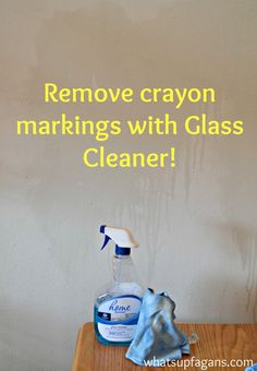 Remove crayon markings on walls with glass cleaner! Plus, check out 10 other methods on removing crayon from walls and whether they actually work or not! Great post! | whatsupfagans.com