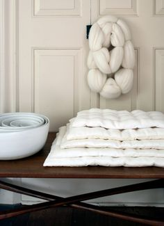 Linen Stacking Pillows | The Purl Bee