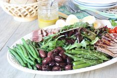 Tuna Nicoise Salad. On MRC menu leave off honey and olives. Mushrooms would be a good sub for olives.