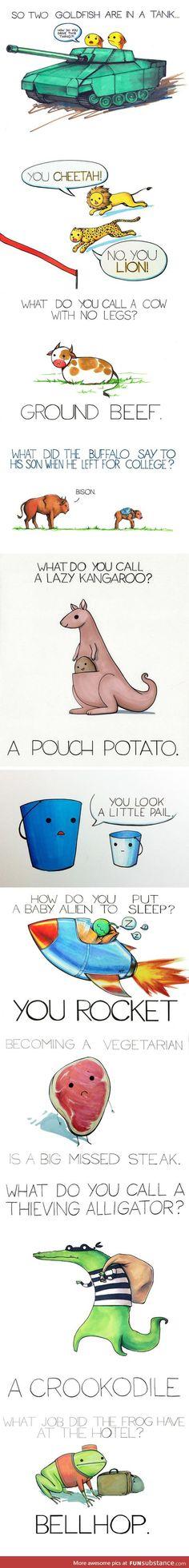 Terrible jokes illustrated