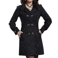 sneakers for cheap c021e dc5c4 Damen Mantel knielang, Trenchcoat mit Taschen und ...
