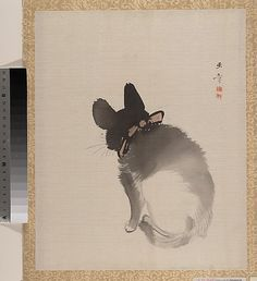 Kawabata Gyokushô (Japanese, 1842–1913). Cat, Meiji period (1868–1912). Japan. The Metropolitan Museum of Art, New York. Charles Stewart Smith Collection, Gift of Mrs. Charles Stewart Smith, Charles Stewart Smith Jr., and Howard Caswell Smith, in memory of Charles Stewart Smith, 1914 (14.76.61.87)