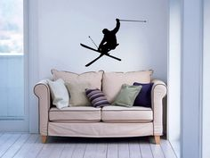 Ski Skiing Skier Speed Winter Sport Wall Vinyl Decal Sticker Housewares Art Design Murals Interior Decor Home Bedroom SV4964