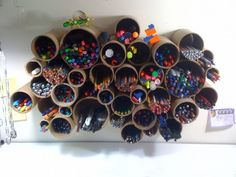 Like this idea for pens since I have so many that I can't organize them!