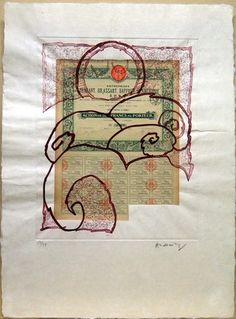 Pierre Alechinsky - Plate I from the portfolio Krach - 1973 Art Informel, Gravure Illustration, Tachisme, Imperfection Is Beauty, Art Database, Art Graphique, Moma, Art Plastique, Abstract Expressionism