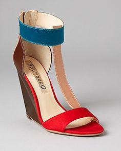 2b30a1e1cde9 Boutique 9 Wedges - Linya T Strap Shoes - Sandals - Bloomingdale s