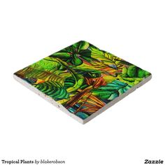 Keep your table protected with Tropical coasters from Zazzle! Glass Coasters, Drink Coasters, Picnic Blanket, Outdoor Blanket, Tropical Plants, Decorating Your Home, Ceramics, Painting