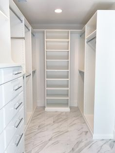 Simply Done White Marble Custom Master Closet Heaven