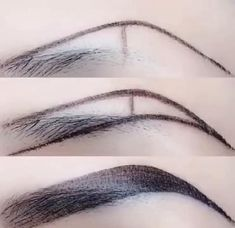 Eyebrow Makeup Tips, Beauty Makeup, Eye Makeup, Hair Makeup, Eyebrow Pencil, Eyeliner Hacks, Make Up Tutorial Contouring, Eyebrow Tutorial, Round Face Makeup