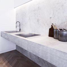 Stone kitchen | industrial | via paddington house