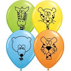 Colourful Jungle Animals latex balloons