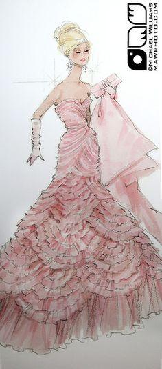 Pink - Barbie Illustration - Robert Best Signing at Bloomingdale's Barbie Store