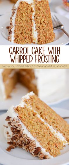 This is hands-down the best carrot cake ever! Simple, with no secret or special ingredients, this delicious carrot cake with whipped cream cheese frosting is soft, tender and unbelievably moist.