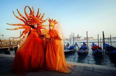 In the wake of the Greek tradition attached to the use of masks, the Carnival of Venice is associated with the theatre. Description from tourisminvenice.com. I searched for this on bing.com/images