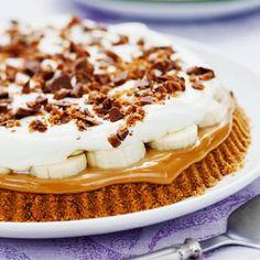 Banoffeepaj med dajm - Paj med kola och banan Pudding Desserts, No Bake Desserts, Delicious Desserts, No Bake Pies, No Bake Cake, Grandma Cookies, Hot Cocoa Recipe, Food Technology, Banoffee Pie