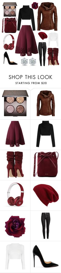 """""""Falling For Fall"""" by passion-for-pink ❤ liked on Polyvore featuring Laura Mercier, Valentino, Mansur Gavriel, Beats by Dr. Dre, Halogen, H&M and Christian Louboutin"""