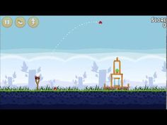 Physics Projectile Motion (angry birds) - YouTube