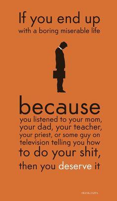 Career Advice from Frank Zappa #frankzappa