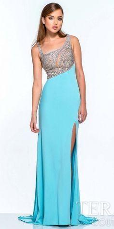 Terani Couture Asymmetrical Jersey Prom Dress