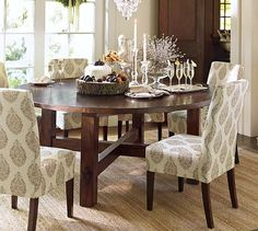LOVE this table.  Now if I only had the $$$$$  for it.  Toscana Fixed Round Dining Table #potterybarn