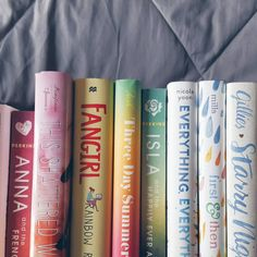 #bookishrainbow  I'm not sure this rainbow turned out as nice as my last one. #bookstagram