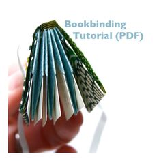Digital Bookbinding Tutorial (PDF), DIY bookmaking, folded origami book instructions, book making pattern via Etsy