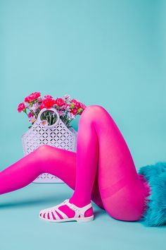 Colourful product photography and styling of jelly shoes for Sun Jellies by Marianne Taylor.