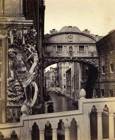 Venise. Le pont des Soupirs,.vers 1880
