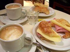 cafe in buenos aires- medialunas de jamon y queso. mmmm.