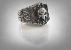 Your place to buy and sell all things handmade Mens Skull Rings, Silver Skull Ring, Pirate Jewelry, Skull Jewelry, Easy Rider, Biker Rings, Sterling Silver Rings, Rings For Men, Jack Nicholson