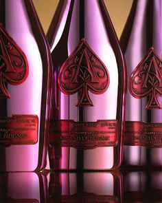 ACE OF Spades  one of these days!!! Hold up! Champagne in a pink and red metallic bottle!