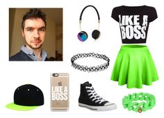 Jacksepticeye Fashion by mereyem-jell-malinao on Polyvore featuring WearAll, Converse, Marc by Marc Jacobs, Casetify, Frends, Jacksepticeye and JSE