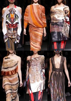 Givenchy S/S 2014-Japan and African Cultures Collide – Warrior Style – Heavy Embellishments – Asymmetric Draping – Samurai Silhouettes – Earthy Hues – Encrust...